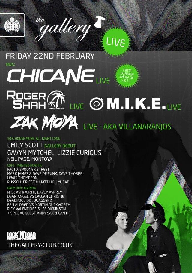 The Gallery, Ministry of Sound 22nd February 2013 Poster
